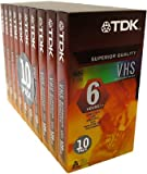 TDK T120RVAXS10 120 Minute Standard Video Tape - 10 Pack