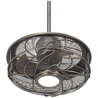 """Casa Vestige™ Cage LED Ceiling Fan - 17"""" Antique Bronze - - Amazon"""