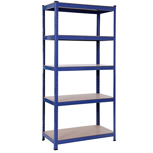 Songmics-Lagerregal-1325kg-Schwerlastregal-Pulverbeschichtet-in-Blau-180-x-90-x-45-cm-GLR45Q