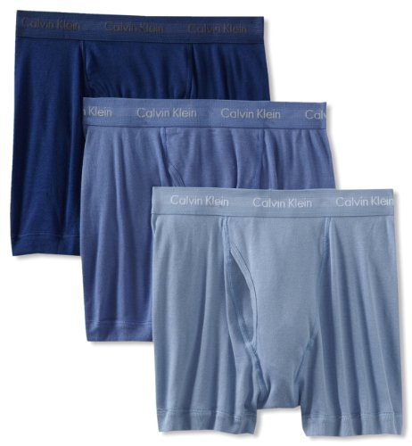 Calvin Klein Men's 3 Pack Boxer Brief, Blue Depths, Medium
