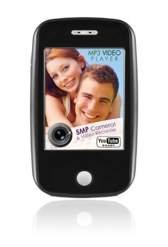 Ematic EM604 4 GB Video MP3 Player with Touchscreen, 5MP Video/Still Camera, FM Radio, and Speaker (Black)