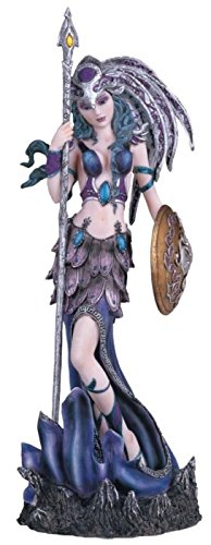 George S. Chen Imports SS-G-91585 Purple Fairy with Spear & Shield Collectible Figurine Statue Decor
