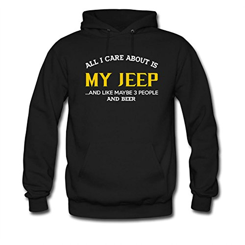 All I Care About is My Jeep and Like Maybe 3 people and Beer Printed Mens Hoodie