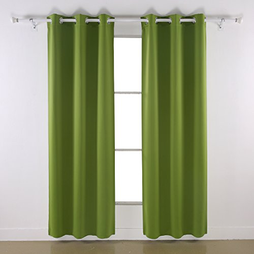 Deconovo Room Darkening Thermal Insulated Blackout Grommet Window Curtain Panel For Bedroom, Green,42x84-Inch,1 Panel (Panel Curtain Green compare prices)