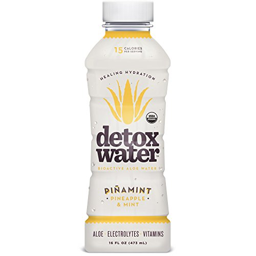 detoxwaterTM Bioactive Aloe Water Piñamint Pineapple & Mint 16 Fluid Ounces, Pack of 6 (Detox Water compare prices)