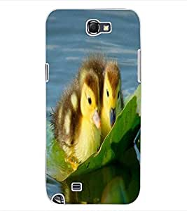 ColourCraft Lovely Ducks Design Back Case Cover for SAMSUNG GALAXY NOTE 2 N7100