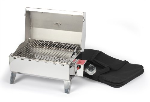 Camco-58145-Stainless-Steel-Portable-Propane-Gas-Grill-with-Storage-Bag