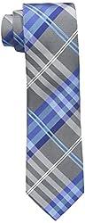 Geoffrey Beene Men's Petros Plaid II Tie, Blue, One Size