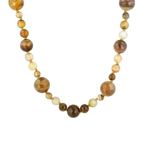 Multi-Size Faceted Multi-Color Agate Bead Endless Necklace, 62