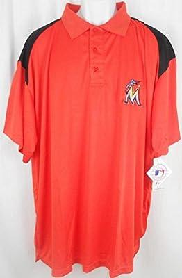 Miami Marlins MLB Majestic Dri Fit Shoulder Polo Golf Shirt Big & Tall Sizes