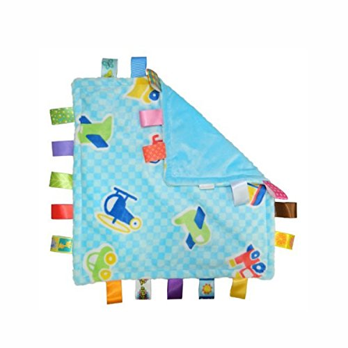 Taggies Little Taggies Blanket, Blue Vehicles - 1