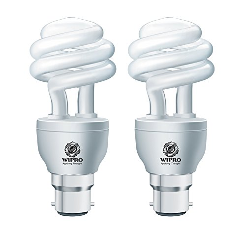 Twister Duos 15 Watt CFL Bulb (Cool Day Light,Pack of 2)