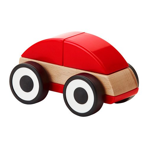 Ikea Lillabo Wooden Toy Car Childrens Toddlers Play Vehicle