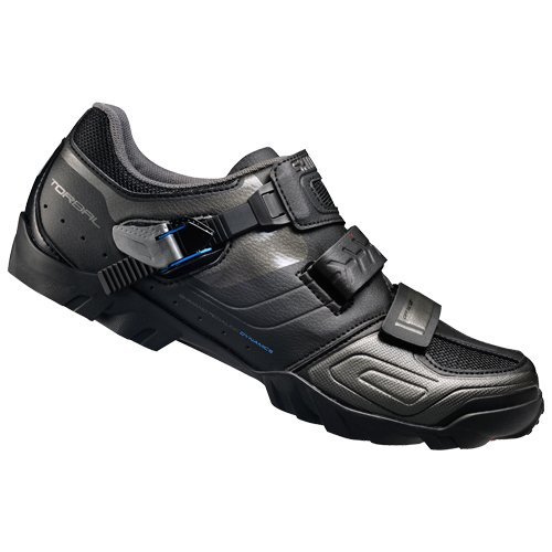 shimano-fahrradschuhe-mtb-radschuhe-breit-spd-klett-ratschenv-scarpe-da-ciclismo-uomo-nero-nero-43-e