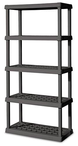 Sterilite 01553V01 5 Shelf Unit, Flat Gray Shelves & Legs, 1-Pack (Shelf Unit Plastic compare prices)