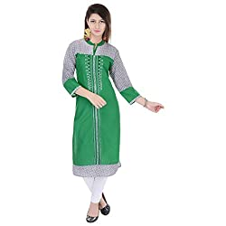 Style N shades Embroidery Green Colour Kurti