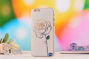 IPhone 6 4.7 Ultra Thin Case,Nancy s Shop Colorful Painting Luxury 3D Bling Hard phone accessories Case and covers for Apple iPhone 6 4.7 inch Screen (A Flower)