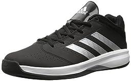 adidas Performance Men\'s Isolation 2 Low Basketball Shoe,Black/ Silver/ White,8 M US