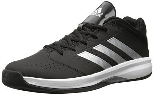 adidas Performance Men's Isolation 2 Low Basketball Shoe,White/ Silver/ Black,9.5 M US