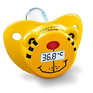Beurer JFT20 Baby Pacifier Thermometer (Yellow)