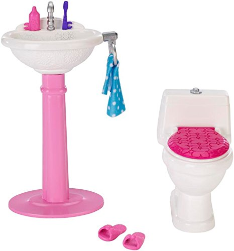 Barbie CHR36 - Arredamenti Basic, Toilette