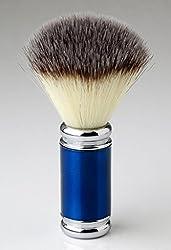 Pearl Shaving Metal Brush -Blue