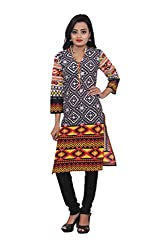 KIMYRAA Women's Cotton Kurta (KLK-1010-MULTI-XXL)