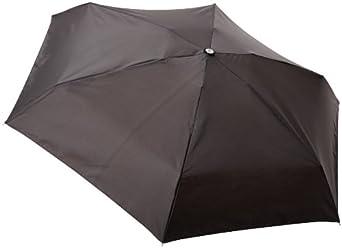 Totes Classics Ladies 4 Section Auto Open Close Compact Umbrella, Black, One Size