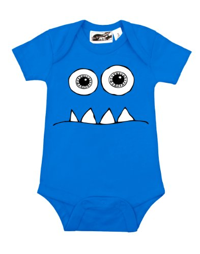 Wide Eyed Monster Turquoise One Piece 12-18 Months front-1032988