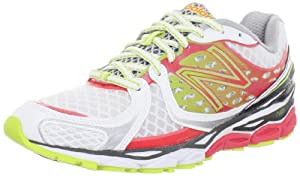 New Balance Women's W1080v3 Running Shoe,Pink/Lime,9.5 2A US