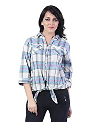 Trendy Printed Knot Shirt by Bfly