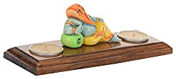 Utsav Kraft Wooden Tealight Candle Holder (21 cm x 8 cm x 8 cm)