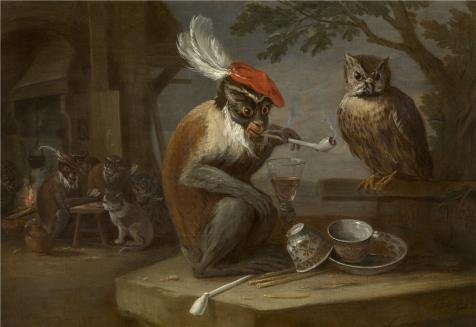 The Perfect Effect Canvas Of Oil Painting 'David Teniers II - Monkey Trick,17th Century' ,size: 8x12 Inch / 20x30 Cm ,this Cheap But High Quality Art Decorative Art Decorative Prints On Canvas Is Fit For Bathroom Artwork And Home Decor And Gifts (Marvel Studios 12 Inch Blade compare prices)