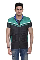 Sleeveless Quilted Jacket for Men by COLORS & BLENDS - Black - XL size