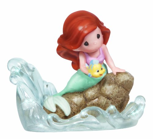 Precious Moments Disney Ariel Seated on Rock Figurine