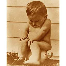 Quality digital print of a vintage photograph - Potty Boy Sepia Tone 11x14 inches - Matte Finish