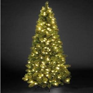 Pre-Lit Slim Manitoba Spruce Christmas Tree (2.1m / 7ft)