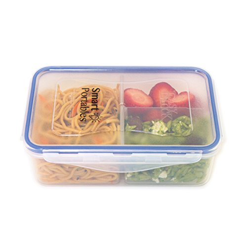 Smart Portables Meal Prep Container (38 oz.); Bento Lunch Box; Leakproof Reusable Food Container; Portion Control; Configurable Compartments (Divided Containers For Lunch compare prices)