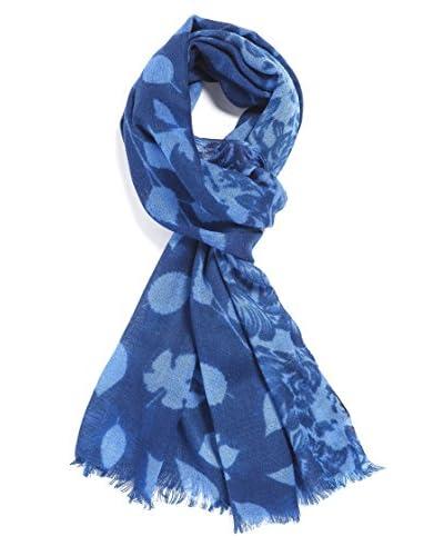 Mila Schӧn Concept Stola Dis.Foglie Blu Unica
