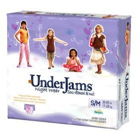Pampers UnderJams Night Wear For Girls Size 8- L/XL- 13 each - 5 Pack