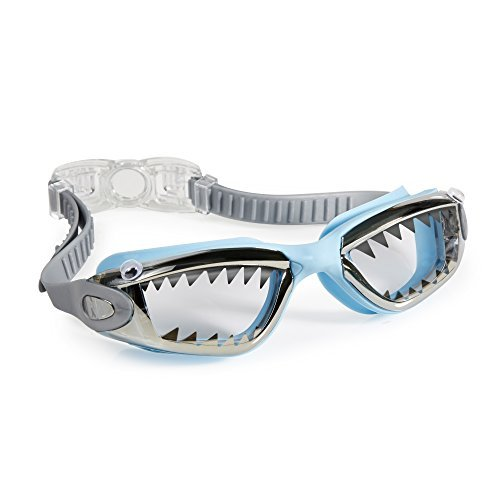 [Swimming Goggles For Boys - Jawsome Kids Swim Goggles By Bling2o (Baby Blue Tip Shark)] (Google Glass Costume)