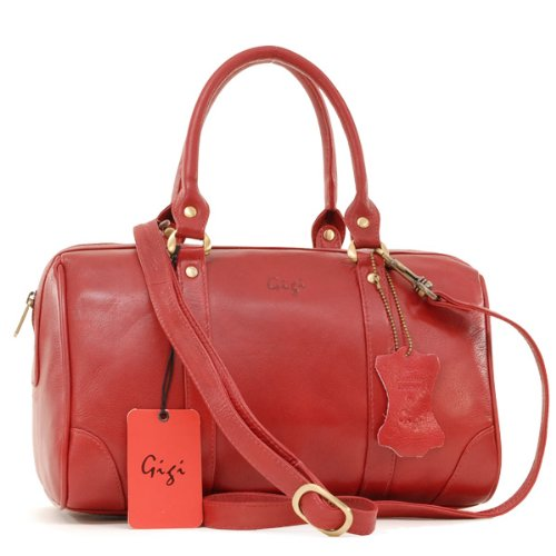 Gigi - Midi Grab Bag - Red Leather