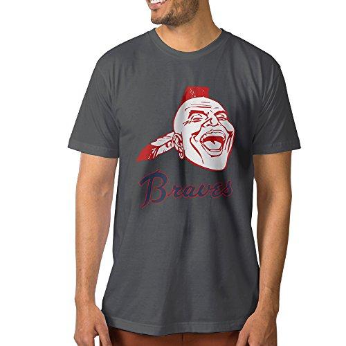 [AMAG Atlanta Braves Men's Short Sleeve Tshirt Color DeepHeather Size XL] (Dance Costumes Atlanta)