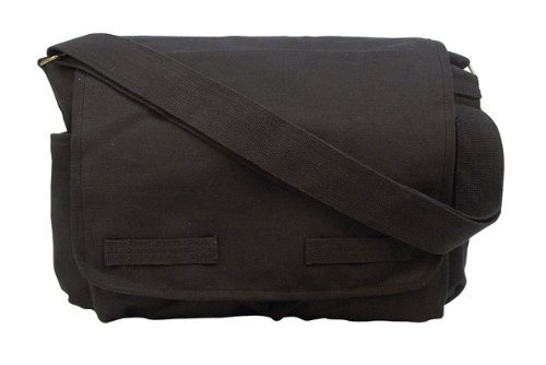 Black Heavyweight Classic Messenger Bag
