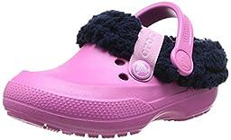 crocs Blitzen II Lined Clog (Toddler/Little Kid), Party Pink/Nautical Navy, 2 M US Little Kid