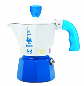 "Bialetti: Moka Express ""Artisti"" Limited Edition 1-Cup Light Blue [ Italian Import ] from Bialetti"