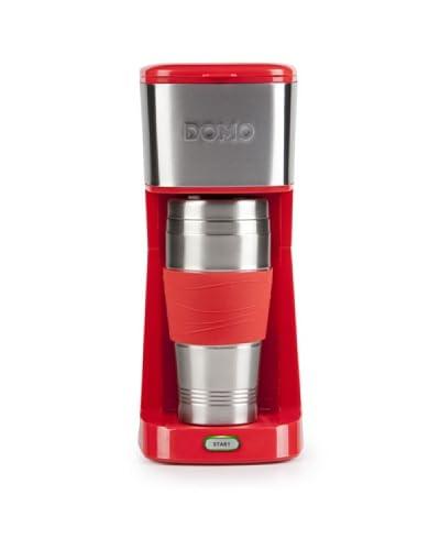 """Domo Cafetera """"to go"""" DO438K Rojo/Acero"""