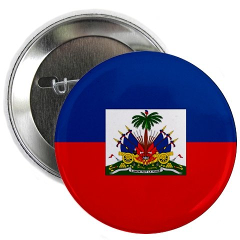 HAITI World Flag 2.25 inch Pinback Button Badge (Custom Pin Buttons compare prices)