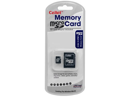 Cellet MicroSD 4GB Memory Card for LG CHOCOLATE MINT Phone with SD Adapter. (Lifetime Warranty)