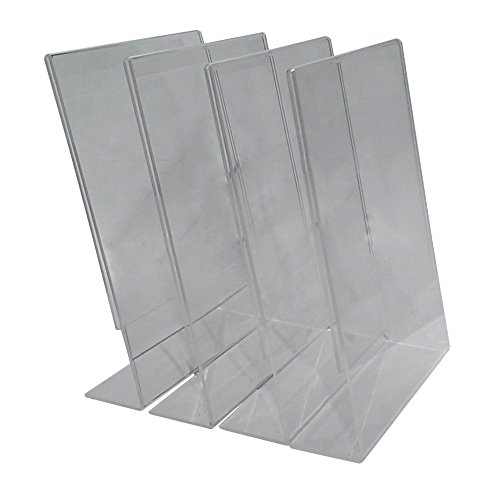 Sign Holder Acrylic Stand Frame; 4 Pack of 8.5